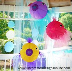 mermaid or pool party theme decor   # Pin++ for Pinterest #    www.SwimmingPools.com    https://www.facebook.com/SwimmingPoolscom