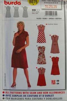 Burda 8075 Misses' Dress