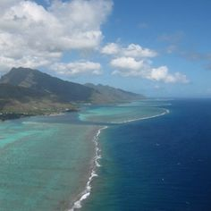 From the sky - Moorea, Polynesia