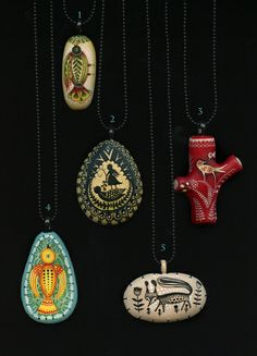 Five New Necklaces. by Elsita (Elsa Mora), via Flickr
