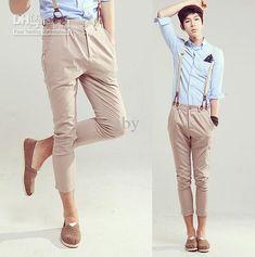 Wholesale 2012 New Fashion Korea Style Men's Casual Pants Casual Slim Leisure Shorts Pants 11301-K636-P55, Free shipping, $30.68/Piece | DHg...