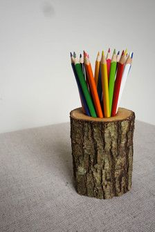 We offer LIMITED EDITION oak pencil holders. It is a lovely way how to bring nature in your home! This pencil holder is not only practical, but also a great home decor.  It measures approximately 10-12cm H and 7-9 cm W. (4 - 4,75 in H and 2,75-3,50 in W) and holds up to 30 pencils. Pencils are not included.