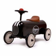 Loopauto Zwart Racer - De Heppie Store