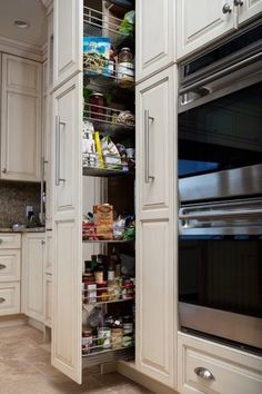 Pull out pantry - maximize storage in the same amount of space!
