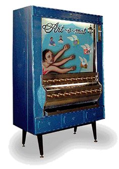 old cigarette machines refashioned to sell small pieces of art!    http://www.artomat.org/