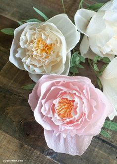 Make DIY crepe paper peonies. These are beautiful! I love peonies. Maybe i can have them year round now. :)
