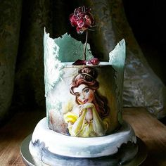 """""""Beauty and the Beast"""" cake by extremely talented @elena_gnut  Check her instagram feed, guys (if you don't follow her yet). You'll be fascinated by Elena's amazing cakes   Follow us @tastyinspiration for more inspirational pictures"""