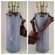 Leather Water Bottles Case by myvesica on Etsy https://www.etsy.com/listing/231499410/leather-water-bottles-case
