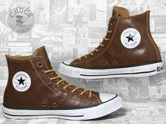 Converse Chucks Hi Leather Wheat / Brown