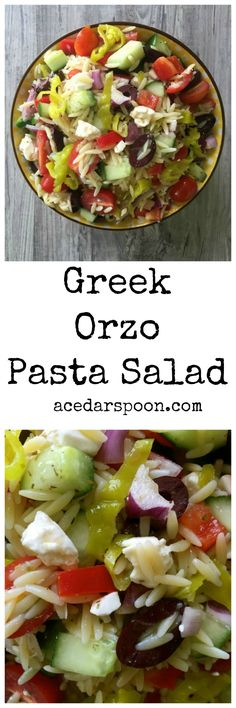 Greek Orzo Pasta Salad // A Cedar Spoon