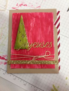 Stampin' Up! demonstrator Paula W's  project showing a fun alternate use for the Watercolor Winter Simply Created Card Kit.