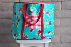 Aesthetic Nest: Sewing: Oilcloth PreSchool Bag