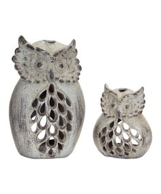 Look at this Owl Candleholder Set on #zulily today!