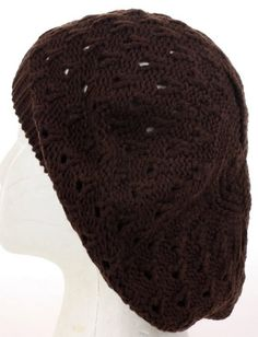 Thick Trendy Fashion Knitted Beret Hat with Drop Pattern for Women, Many Colors