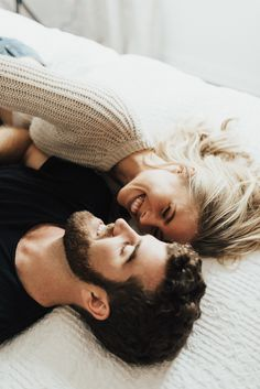 Seriously adorable and cosy newlywed photoshoot in bed | image by Peyton Rainey