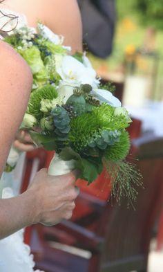 Bridesmaids Green Bouquet