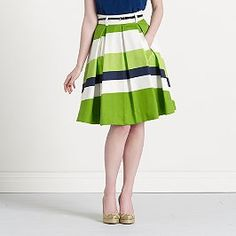 I love skirts with this silhouette.