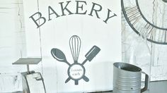 vintage bakery wood sign
