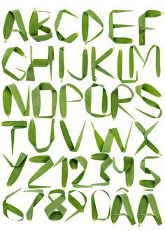 Handmade fonts. by HandMadeFont, via Behance
