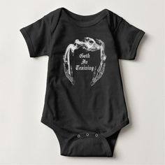 Shop Goth in Training - Goth Baby Clothes Baby Bodysuit created by StilleSkygger. Gothic Baby Clothes, Goth Baby, Baby Boy Swag, Baby Bats, Baby Bodysuit, Baby Fever, Future Baby, Boy Outfits, Cute Babies