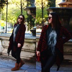 Persunmall Sweater, Udobuy Tshirt, Udobuy Handbag, The Feet Treat Boots, 6ks Leather Jacket