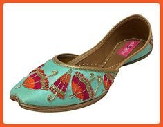 Step n Style Punjabi Jutti Khussa Shoes Wedding Shoes Ethnic Shoes Mojari Sandal - Sandals for women (*Amazon Partner-Link)