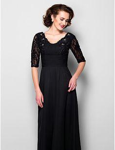 A-linje - Golvlång - Mother of the Bride Dress (Chiffong) - Scoop – SEK Kr. 1,310