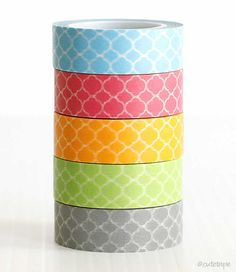 Moroccan Washi Tape Quatrefoil Pattern Wedding by PrettyTape, $2.50