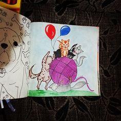 Adoreiiiiiiiiiii meu #livrodosossego  primeiro desenho que pintei dele!