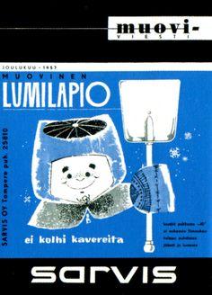 Sarvis Lumilapio, a plastic shovel for kids, 1957.