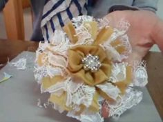 ▶ How to make Easy Shabby Chic Flowers - YouTube