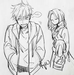 Human! Sans, Human! Toriel and Monster! Frisk | Artist RyuO