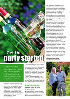~ Get the party started ~ Top tips to prepare for entertaining guests in the garden this summer... #locallife #Petersfield #Hampshire #gardening #entertaining #summer #parties #ideas #inspiration