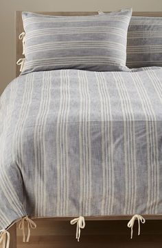 Nordstrom at Home 'Bistro' Stripe Duvet Cover available at #Nordstrom