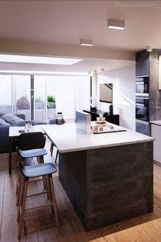 Pinnacle N10 Architectural Visual - Kitchen CGI #Paper Unicorn, #3d ...
