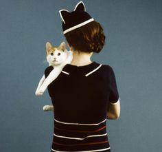 Nostalgic Cat-Woman - love the hat