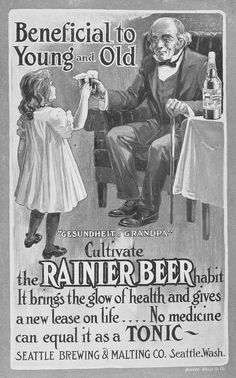 Beer--the healthy drink for kids and the elderly! Rainier Beer, Seattle City Directory (1906)