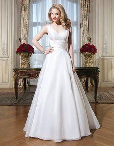 Justin Alexander wedding dresses style 8773 Organza, silk dupion A-line dress accentuated by a tank neckline.