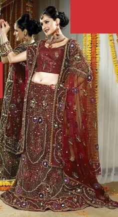 Bridal Lehnga Cholis | Indian Lehengas | Traditional Lehenga Cholis | Wedding-wear Ghaghras | Lehenga Choli | Online Lehenga Choli | Buy Lehenga Choli | Designer Lehnga Choli | Wedding Lehenga Choli | Ghagra Cholis(Price:$492.00)