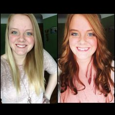 Blonde to brown hair