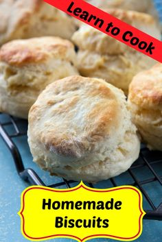 When you are first learning how to cook, biscuits may seem like a challenge, watch the video, and read the recipe, you will make great biscuits.