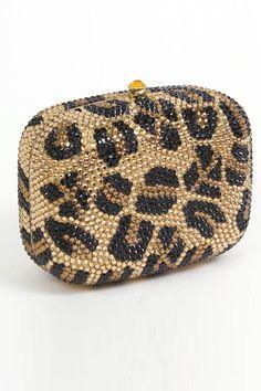 Magid Handbags Box Clutch In Leopard
