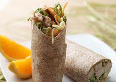 Crunchy Hawaiian Chicken Wrap #veggies #grains #protein #MyPlate #WhatsCooking
