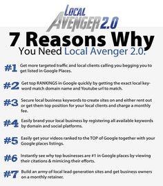 Local Avenger 2.0 – Best Software Suite Allows You To Dominate Local Keywords, Rank Videos And Generate Local Leads Quickly and Easily
