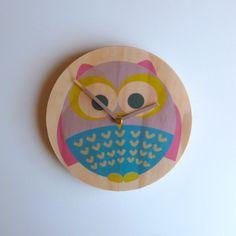 Objectify Owl Wall Clock by ObjectifyHomeware on Etsy, $24.00
