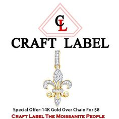 1/5 Ct Round Brilliant Cut 14K Gold Pendent Without Chain. Starting at $1