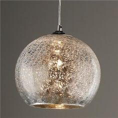 Crackled Mercury Bowl Pendant Light #PendantLights