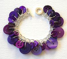 I have made bracelets like this before. White buttons dangling from silver chain!  I got so many compliments on it!  I wish I could find it now.