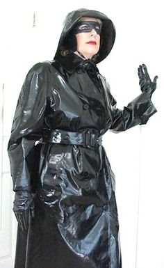 Christine in her shiny black rubber mackintosh Raincoat Jacket, Pvc Raincoat, Mackintosh Raincoat, Black Mac, Latex Wear, Rubber Raincoats, Pvc Coat, Rain Gear, Img Models