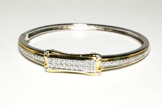 Vintage Estate Style Bangle Bracelet ID Style by VintageMeetModern, $95.00